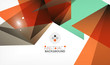 Triangle design business template with lights