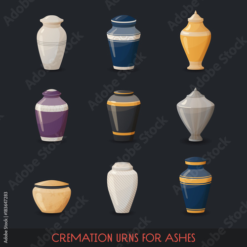Urns for cremations, vase for cremated body ashes Canvas
