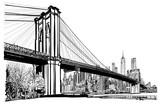 Brooklyn bridge in New York - 183655054