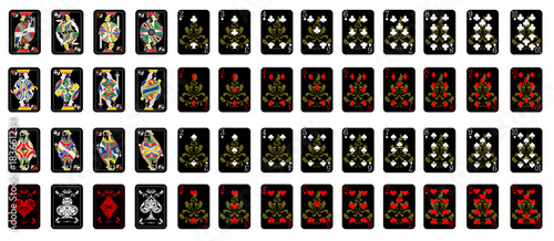 the playing cards Canvas Print