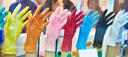 Fényképezés  Medical nitrile powder free gloves