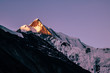 Roc Noir at sunrise. Annapurna circuit. Nepal