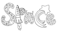 Vector Hand Drawing Letters W...