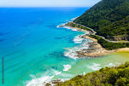 Photo View from Teddy's lookout at Lorne, Great Ocean Road