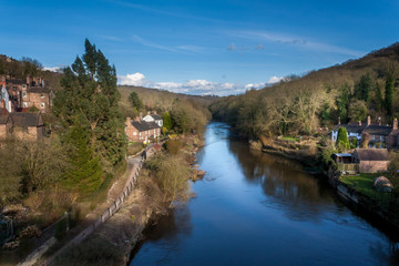 Fototapeta na wymiar View of River Severn from Telfords Ironbridge