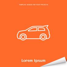 Orange Banner With Car Icon