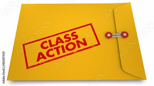 Photo  Class Action Lawsuit Documents Envelope 3d Illustration