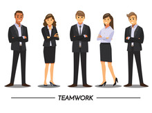 Business People Teamwork ,Vect...