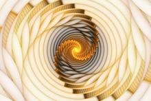 Abstract Fractal Golden Spiral On A Light Background