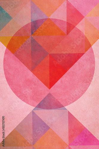 Fotografía Geometrische Form - Kreis - Buntes Papier Design