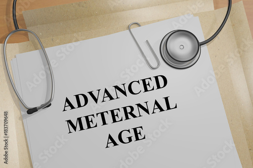 Advanced Maternal Age concept Wallpaper Mural