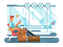 Passenger Waiting At Airport O...