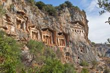 Rock Tomb In Dalyan, Turkey
