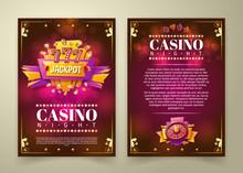 Vector Casino Flyer, Cartoon B...