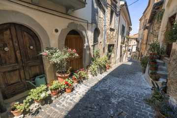 Fototapeta na wymiar Pettorano sul Gizio (Abruzzi, Italy), historic village