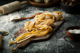 Pasta and ingredients - 183734813