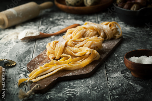 Fotografering Pasta and ingredients