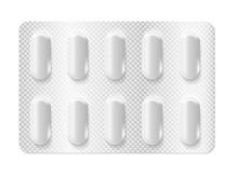 Realistic 3d Blister Pills