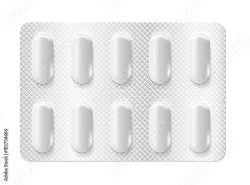 Realistic 3d blister pills Wallpaper Mural