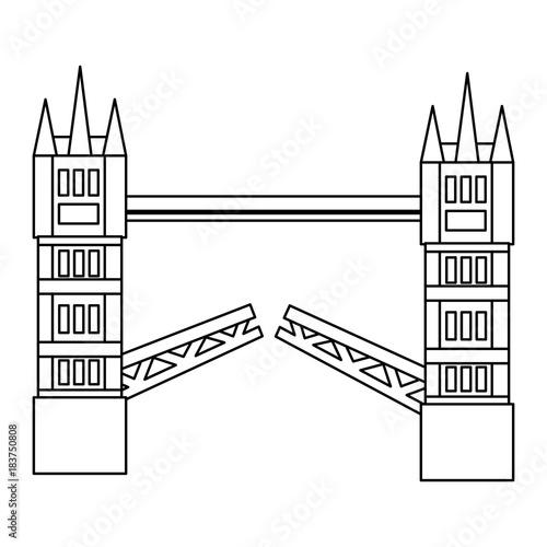 london tower bridge united kingdom landmark vector illustration Wallpaper Mural