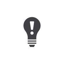 Idea Lightbulb Icon Vector, Fi...