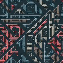 Urban Geometric Striped Pattern