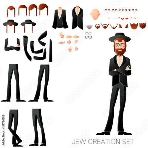 Jew create character set Fototapeta