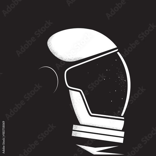 Astronaut in space. Astronaut helmet reflects stars Fototapete