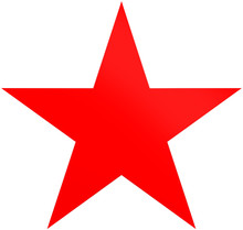Christmas Star Red - Simple 5 ...