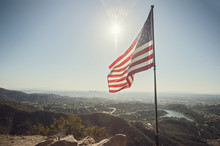 American Flag Over Los Angeles