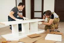 Two Carpenters Assembling Furniture