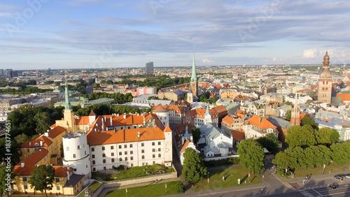 In de dag Centraal Europa Aerial view of Riga at summer sunset, Latvia