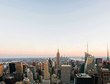 Aerial view on the city skyline in New York City, USA