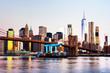 View of Manhattan bridge and Manhattan in New York, USA