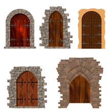 Set Of Vintage Wooden Doors Ag...