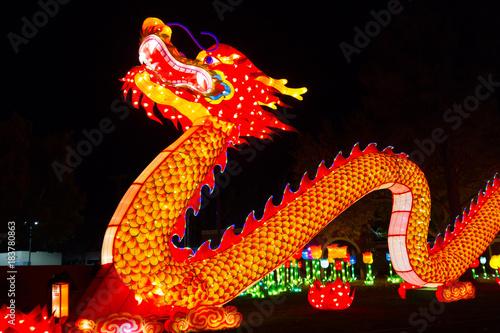 Fotografie, Obraz  Dragon Chinese Lantern Festival