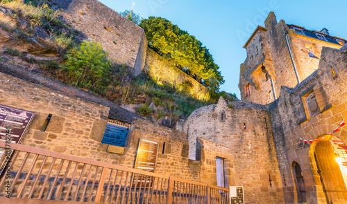 Fotografia Medieval buildings of Mont Saint Michel at night, France