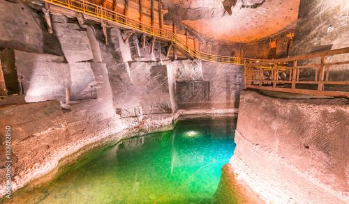 Poster Cracovie Wieliczka Salt Mine interior in Poland