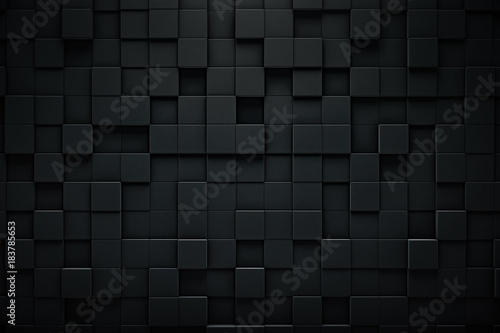 Photo  Abstract blocks background. Grunge surface, 3d rendering