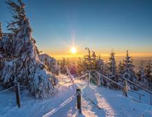 Winterimpression Sonnenuntergang