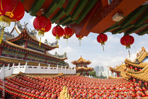 Photo  The Thean Hou Temple is a 6-tiered temple to the Chinese sea goddess Mazu located in Kuala Lumpur, Malaysia