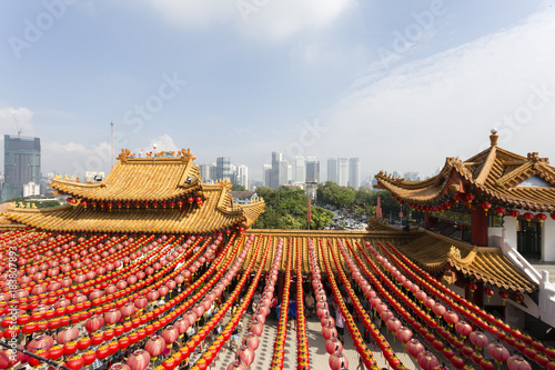 Photo Stands Kuala Lumpur The Thean Hou Temple is a 6-tiered temple to the Chinese sea goddess Mazu located in Kuala Lumpur, Malaysia.