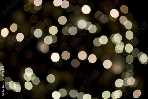 Christmas Background Blurry Lights In White Gold And Antique Pink Defocused