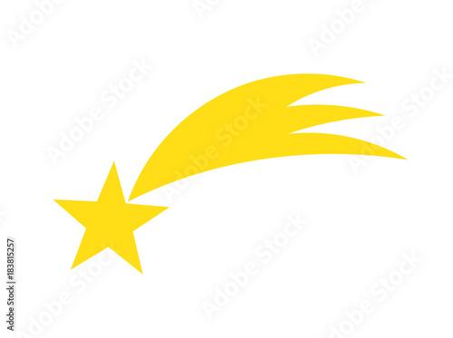 Obraz A yellow falling star icon - fototapety do salonu