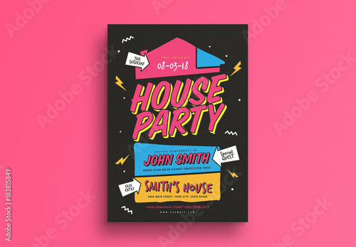 House Party Flyer Buy This Stock Template And Explore Similar