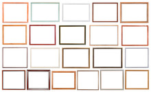 Set Of Modern Wooden Picture Frames Isolated