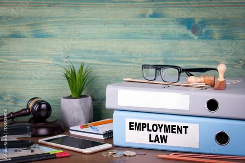 Photo  employment law concept