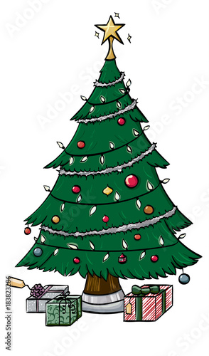 fully decorated christmas tree with presents underneath - Buy Fully Decorated Christmas Tree