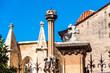 View of the cross in the church of Canta Tecla la Vella Tarragona, Catalunya, Spain. Close-up.
