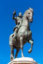 Bronze Equestrian Statue Of Ki...